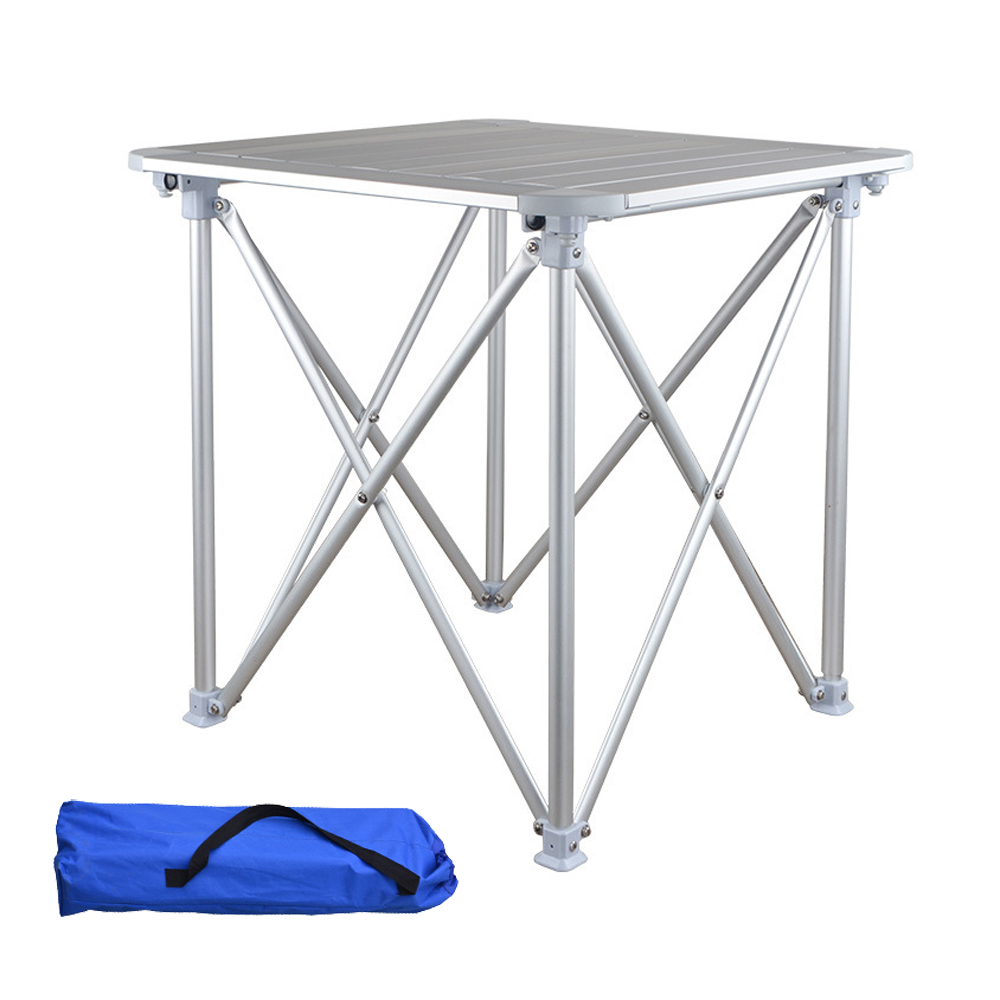 HooRu Camping Aluminum Table Fishing Beach Outdoor Folding Table Portable Lightweight Backpacking Desk with Carry Bag for Picnic