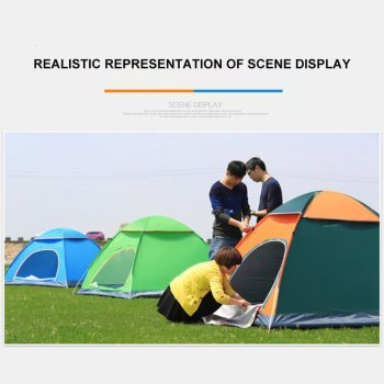 Outdoor Automatic Tents Camping Waterproof Tents 3-4 People Beach Camping Showers Speed Open Double Tent 5