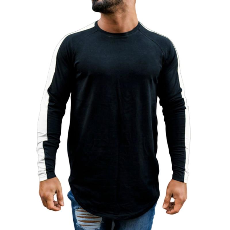 Men T Shirt 2020 Spring Autumn Fitness Long Sleeve Sports TShirt Male Hip Hop Streetwear Slim Fit Tee Shirt O-Neck Full Cotton