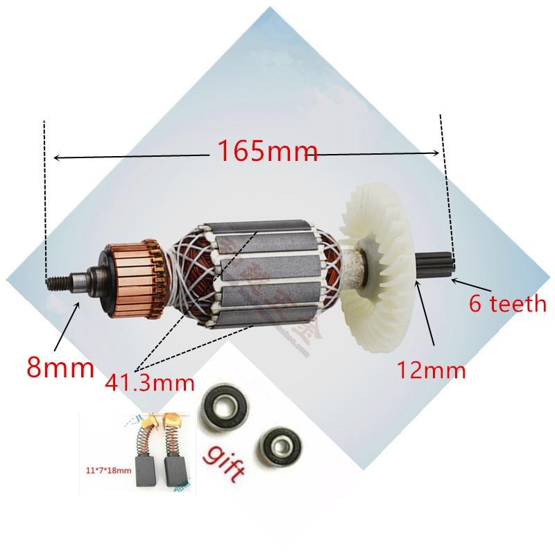 220V-230V ARMATURE Rotor Anchor Replace  For Hitachi 360591E DH40MRY DH40M DH40MR DH40SR DH40FR  Spline Shank  Rotary Hammer