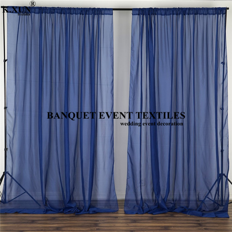 cheap price chiffon wedding backdrop curtain panel stage background photo booth our door wedding curtains event party decoration