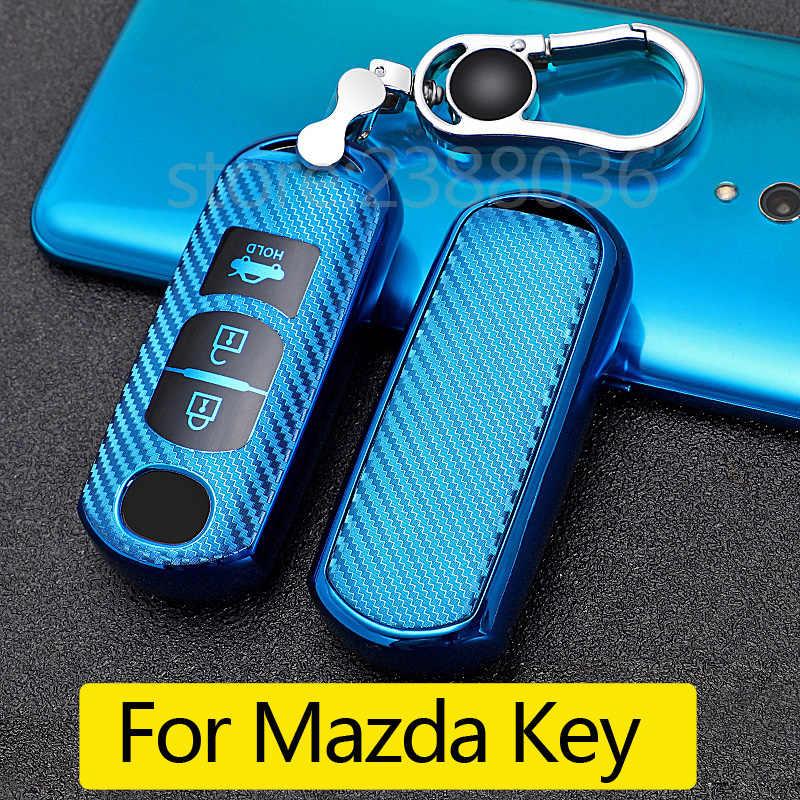 1x Soft TPU Key Fob Case Cover For Mazda 3 5 6 CX3 CX5 CX7 MX5 Smart Keyless Fob