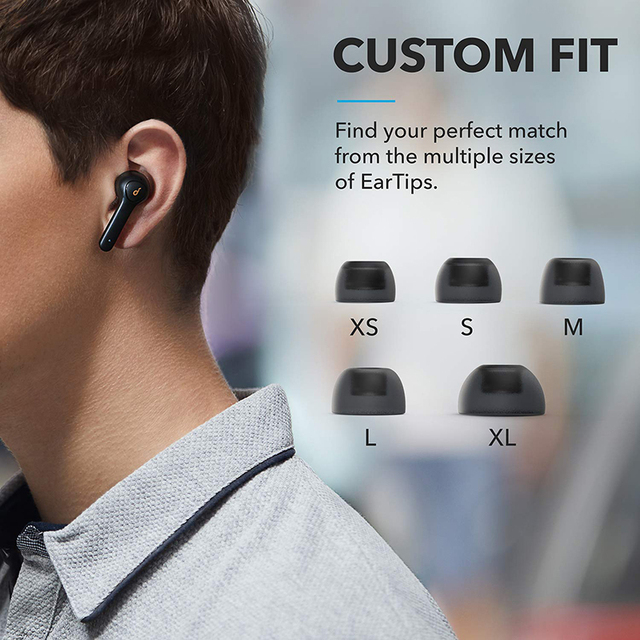 Anker Soundcore Life P2 TWS Earphones with 4 Microphones, CVC 8.0 Noise Reduction, 40H Playtime, IPX7 Waterproof 5