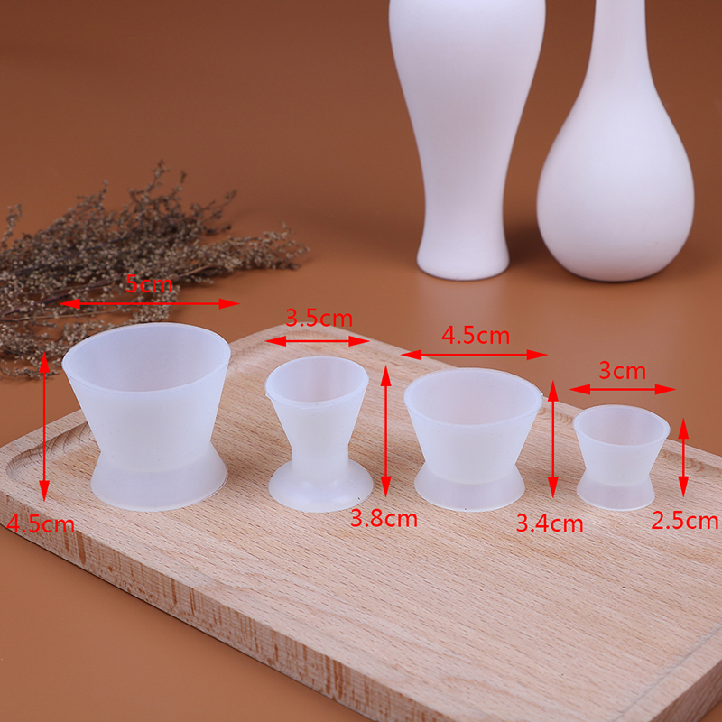 4pcs Dental Materials Silicone Mixing Bowl Use Dappen Dishes Teeth Whitening Laboratory Tools Odontologia Dentistry