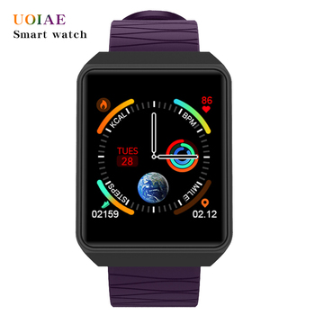 UOIAE smart watch fitbit Women wrist sleep heart rate tracker Men call message reminder passometer For IOS Android alarm clock