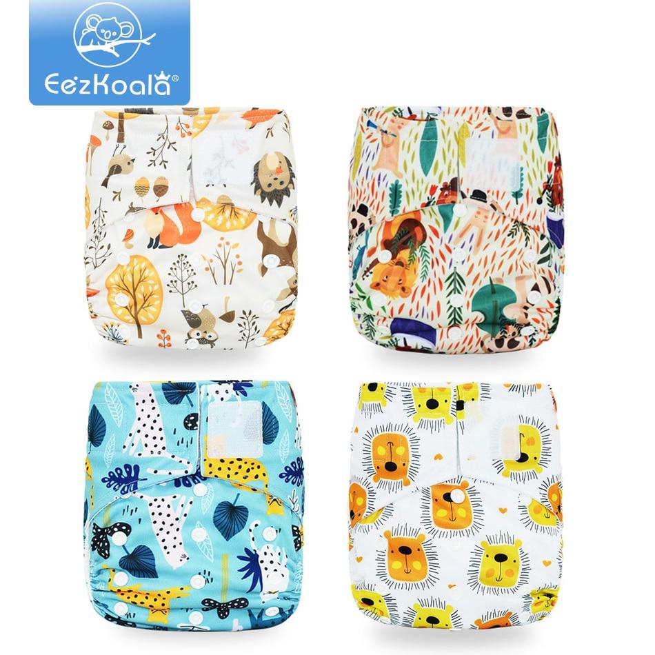 EezKoala 4PCS/Set Eco-friendly Cloth Diaper Fast Dry Cloth Baby Diapers Reusable&Washable Cloth Diaper Insert Nappy