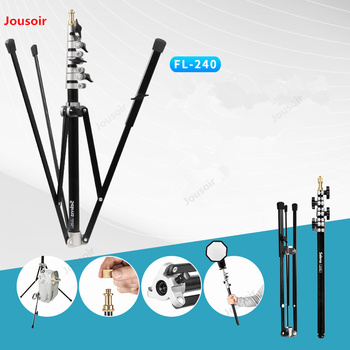 Photography light stand flash soft box bracket detachable shaft 4 section folding portable light stand FL-240 CD50 T07