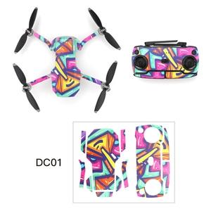 Image 5 - DJI Mavic 미니 드론 바디 암 방수 스크래치 방지 데칼 셸 커버 다채로운 피부에 대 한 보호 필름 PVC 스티커