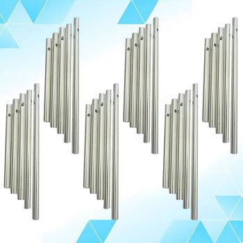 30 sztuk rożna długość dzwonek wietrzny rury zestaw srebrny Tone pusty dzwonek wietrzny Making Kit dla domu ogród wiszące na zewnątrz dekoracji tanie i dobre opinie CN (pochodzenie) Muzyka Metal Duszpasterska Wind Chimes Tube Aluminum Tubes for Wind Chimes Wind Chimes Kit Wind Chimes Material