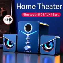 Système de cinéma maison caixa de som par haut-parleur pc altavoces bluetooth haut-parleurs l'enceinte puissant ordinateur de bureau enceintes