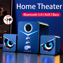 Home theatre system caixa de som para pc speaker altavoces blutooth haut-parleurs enceinte puissant desktop computer speakers