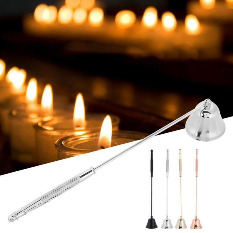 Stainless Steel Bell Shaped Candle Snuffer with Long Handle to Safely Extinguish Candle Gold LZYMSZ Candle Snuffer