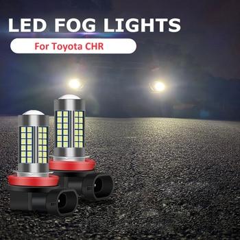 2PC H11 H8 Car LED Bulbs Driving Fog Light Lamp Bulb Bright Style For Toyota CHR C-HR 2017 2018 2019 2020 Fog Light Accessories