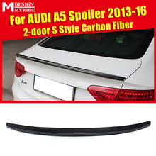 For Audi A5 Carbon Spoiler S Style Fiber rear spoiler Rear trunk Lid Boot Lip wing A5Q Coupe 2-Doors car styling 13-16