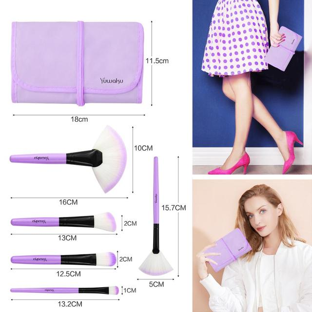 VANDER 32Pcs Makeup Brush Set W/ Bag Foundation Eye Shadows Lipsticks Powder Brushes Cosmetic Make up Brushes pincel maquiagem 2