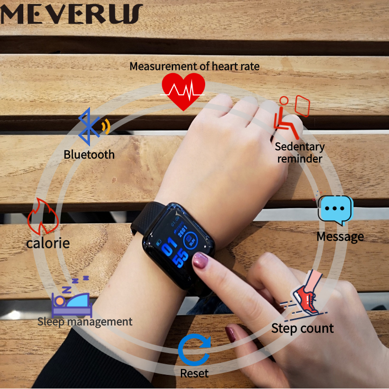 D13 умные часы 116 плюс часы сердечного ритма Смарт-браслет спортивные часы Смарт-браслет водонепроницаемый смарт-часы Android