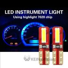 KEIN 10 шт. T5 светодиодные лампы W3W Neo Клин автомобильная светодиодная Автомобильная приборная панель светильник Авто габаритный фонарь 7020 кра...
