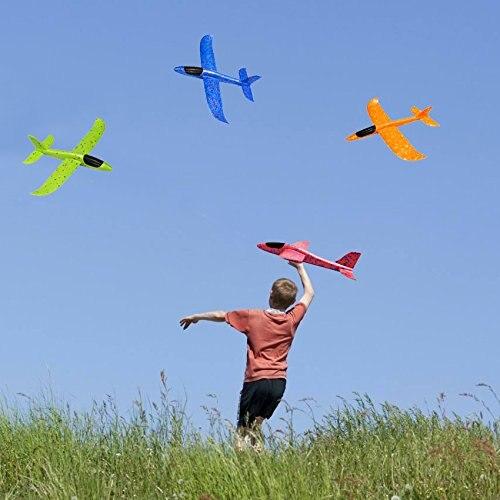 Jouet d'avion en mousse pour enfants, modèle d'avion à inertie, Mode de vol 36/48cm, pour sports de plein air 3