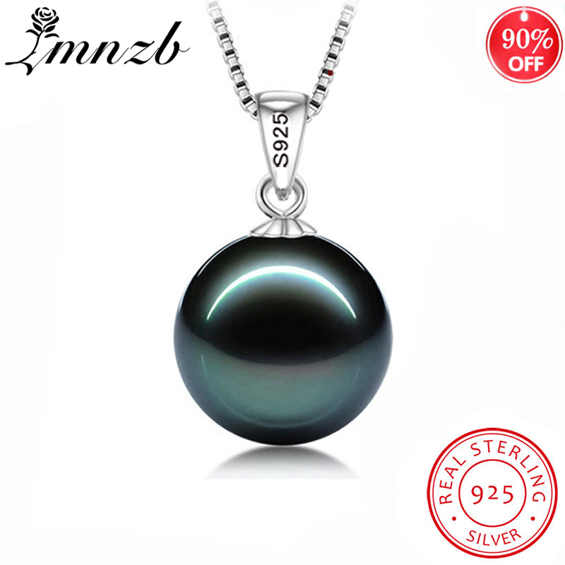 Free Sent Certificate 925 Silver Boho Statement Necklace Women Big Artificial Pearl Pendant Necklace Fashion Pearl Jewelry LN007