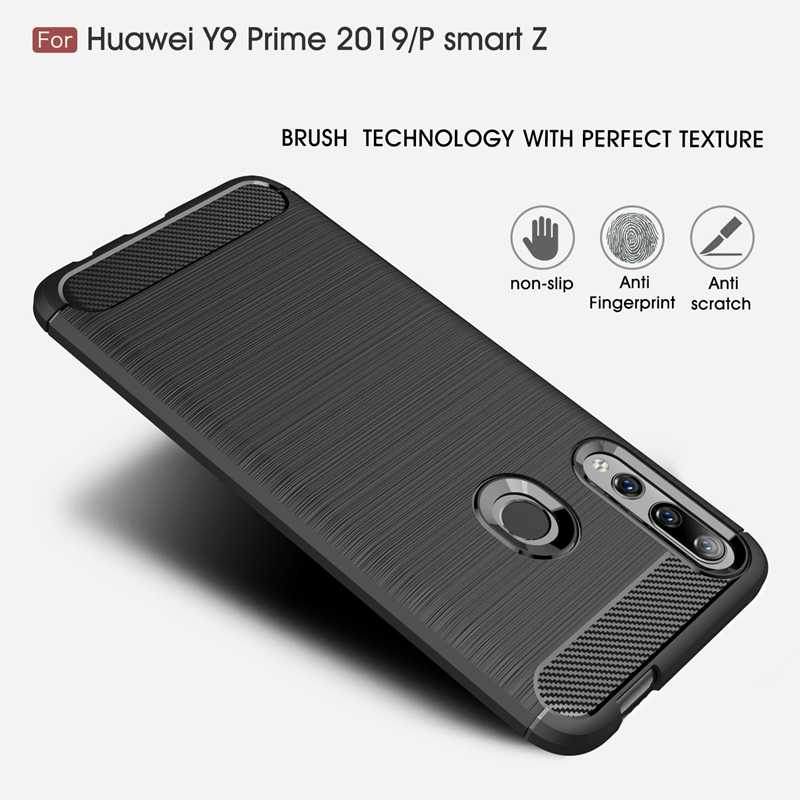 HTMOTXY פחמן סיבי מקרה עבור Huawei Mate 20X10 30 P30 P20 P10 פרו לייט נובה 2 3 3i 4 5 5i 5T כיסוי מט רך TPU עמיד הלם