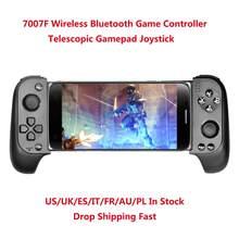 Atualizado 7007f sem fio bluetooth controlador de jogo telescópico gamepad joystick para samsung xiaomi huawei android iphone em estoque