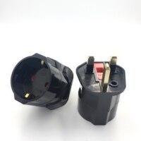 Adaptador de corriente Universal, convertidor Tipo G de 13a, 250V, de cobre, enchufe fundido para UE, Corea, Alemania, Francia, Rusia, HK, Reino Unido