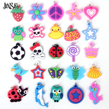 Hand-Knitted Bracelet Rubber Loom Bands Refills Charms Pendants For Kids DIY Bracelets Mixed Designs