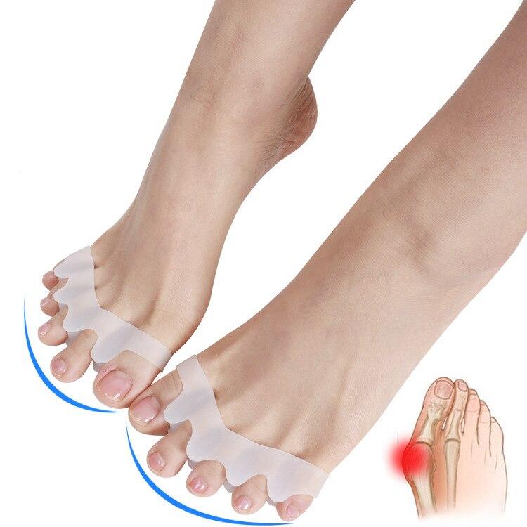 1 para Toe wkładka korekcyjna na palce Protector silikon Bunion Thumb Valgus Protector zapobieganie pęcherzom narzędzia do paznokci pielęgnacja stóp separatory palców|Separatory do pedicure|   -