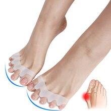 1 para Toe wkładka korekcyjna na palce Protector silikon Bunion Thumb Valgus Protector zapobieganie pęcherzom narzędzia do paznokci pielęgnacja stóp separatory palców