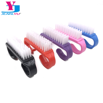10Pcs Nail Cleaning Clean Brush File Manicure Pedicure Soft Remove Dust Small Angle Scrub Multi Color Dusting Pedicure Care Tool