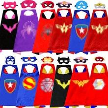 Disfraz de Cosplay de Anime para niños, capa de superhéroe de doble cara, 1 capa + 1 máscara, para fiesta de Cumpleaños de Niños, Navidad y Halloween, 70x70cm