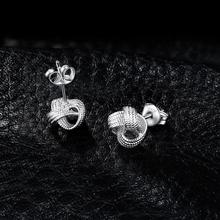 Milgrain Love Knot Stud Sterling Silver Earrings Jewelry