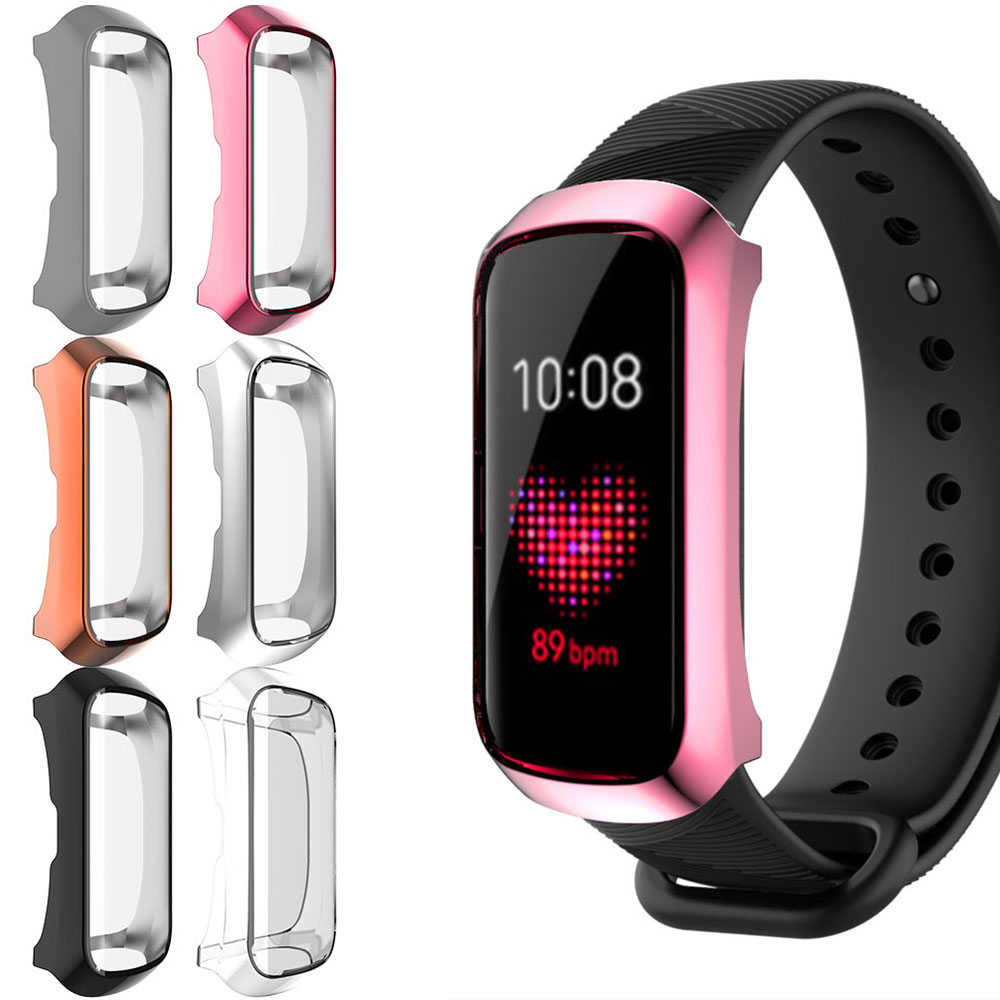 Luxe Beschermhoes Voor Samsung Galaxy Fit-E R375 Siliconen Shell Shockproof Anti Kras Screen Film TPU Smart Horloge case