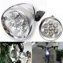 PUAK523 faro delantero para bicicleta 3 LED lámpara Retro Vintage faro clásico para bicicleta no recargable