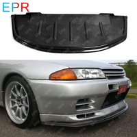 For Nissan R32 Skyline GTR AB Style Carbon Fiber Front Bumper Lip Exterior kit(Will fit on standard for GTR front bumper only)