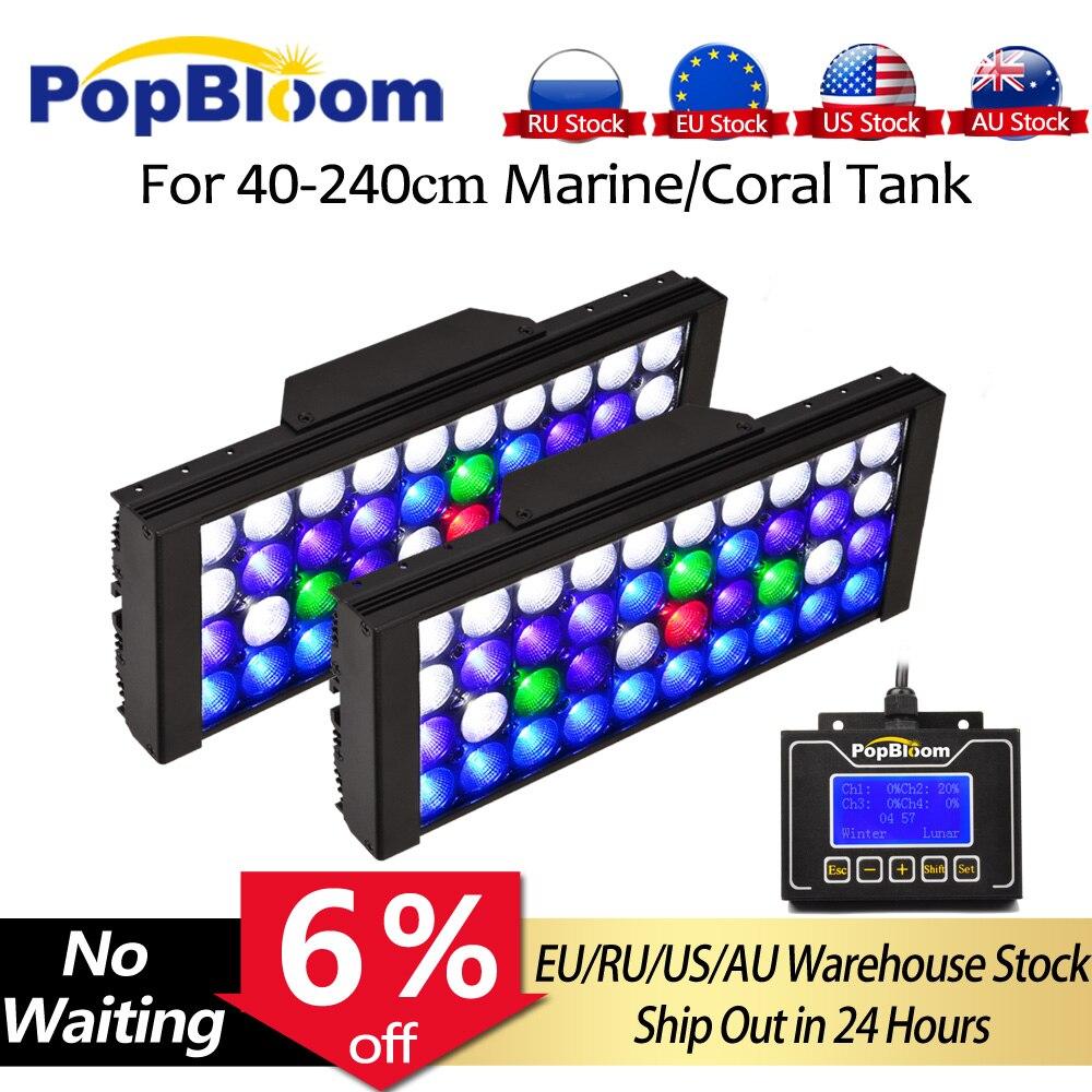 PopBloom Led Aquarium Lampe Marine Aquarium Lichter Riff Aquarium Aquarium Licht Beleuchtung Led Licht für Aquarium Tank
