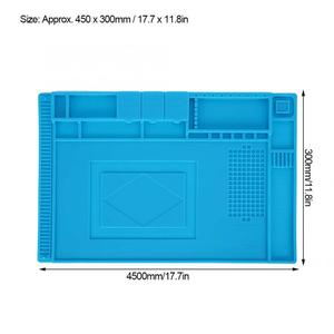 Image 5 - Alfombrilla de goma multifuncional para reparación de relojes, almohadilla de mesa para mantenimiento de electrónica, herramienta de reparación de relojes