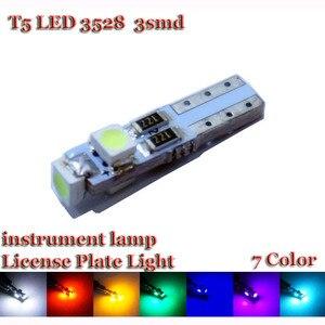 Image 2 - KTSCAR 1000 Chiếc Xe Hơi Tự Động Đèn LED T5 3 Đèn Led Smd 3528 Wedge LED Ánh Sáng Đèn 3SMD Nhạc Cụ Đèn Bảng Điều Khiển cảnh Báo Chỉ Số 12V