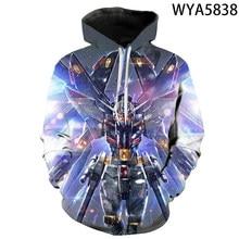 The Gundam Hoodie 3D Printed Up Polyester Hip Hop Men Hooded Hoodie For Spring Autumn Sportswear
