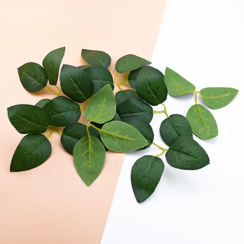 10pcs Artificial Plants Silk Green Leaf Wedding Decorative Flowers Wreaths Christmas Decorations For Home Diy Gifts Rose Leaves
