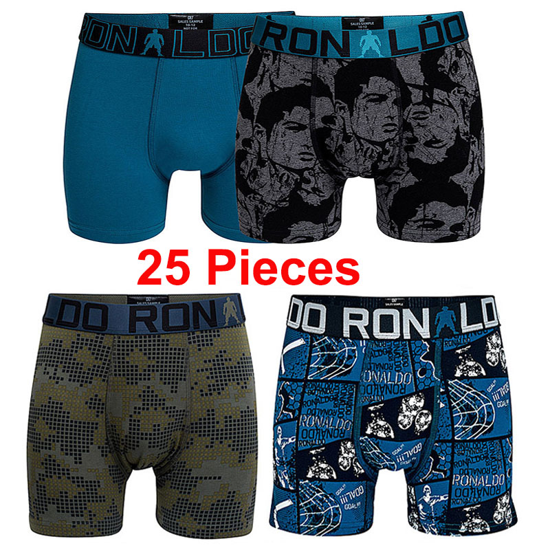 Kids Boys Boxers Trunks Pants Underwear Plain Printed Underpants Cotton