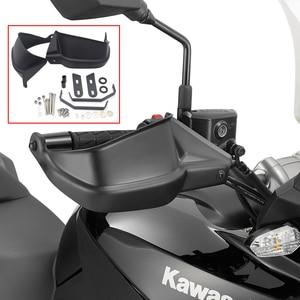Black Motorcycle Handguards Hand Protectors For Kawasaki Z900 2017 Versys 650 Versys 1000 2010 11 12 13 15 14 15 16 Handguard(China)