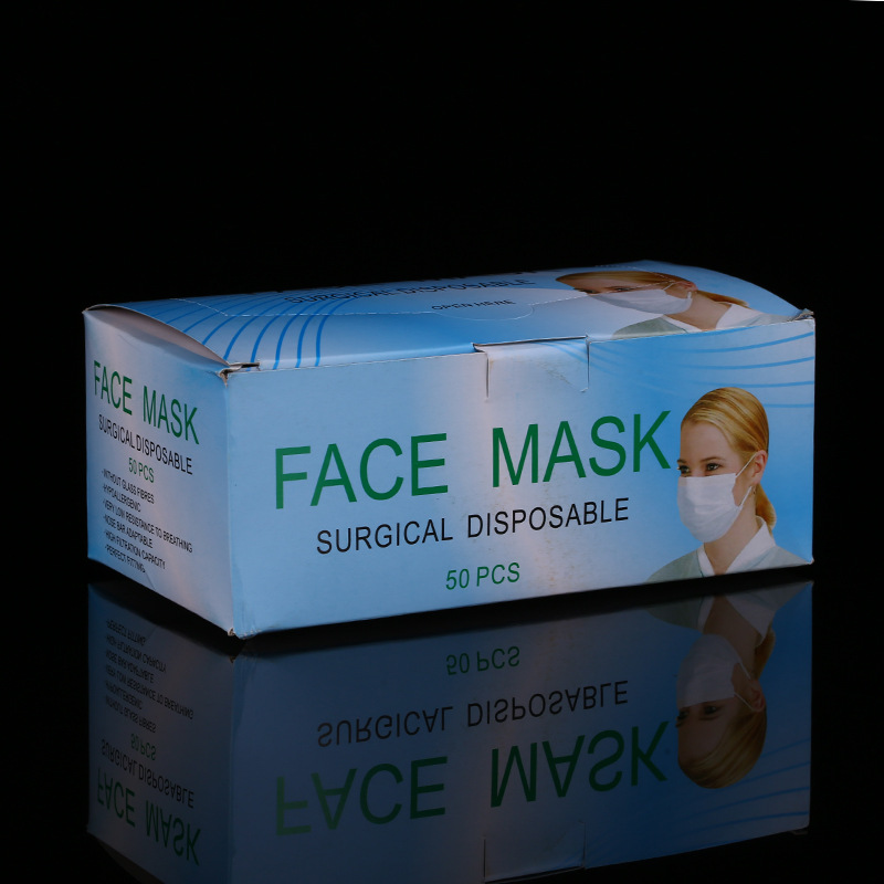 Dongguan, Guangdong Province Wholesale Disposable Medical Mask Nonwoven Fabric Dustproof Export Japan Face Mask Production Manuf