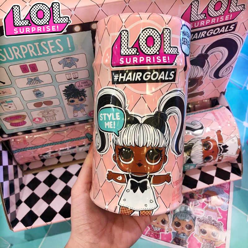 Muñecas originales LOL SURPIRSE, generación de objetivos de cabello, magia DIY, modelo de figura de acción al azar, juguete para regalo para niña