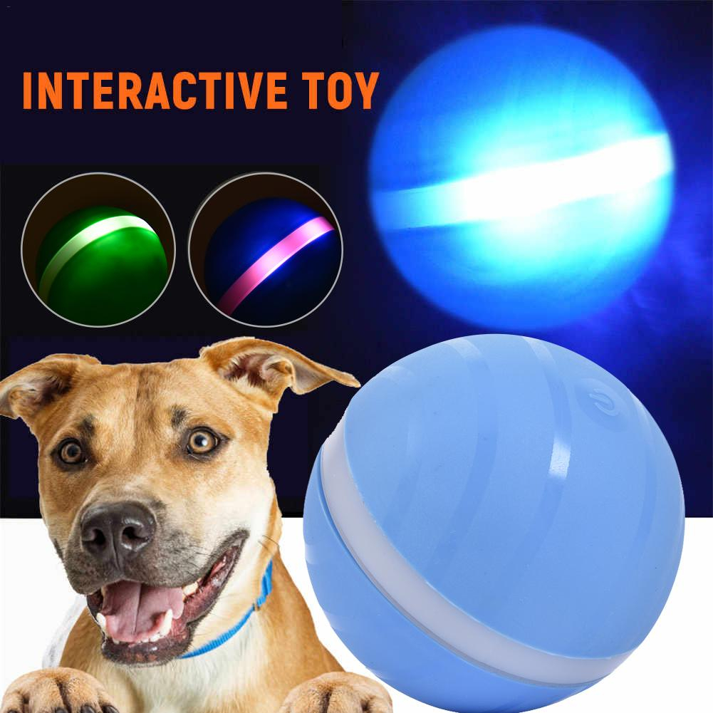 Waterproof Pet Cat dog Toy Magic Roller Ball Jumping Ball USB Electric Pet Ball LED Rolling Flash Ball Fun For Dog kitten Kids in Cat Toys from Home Garden