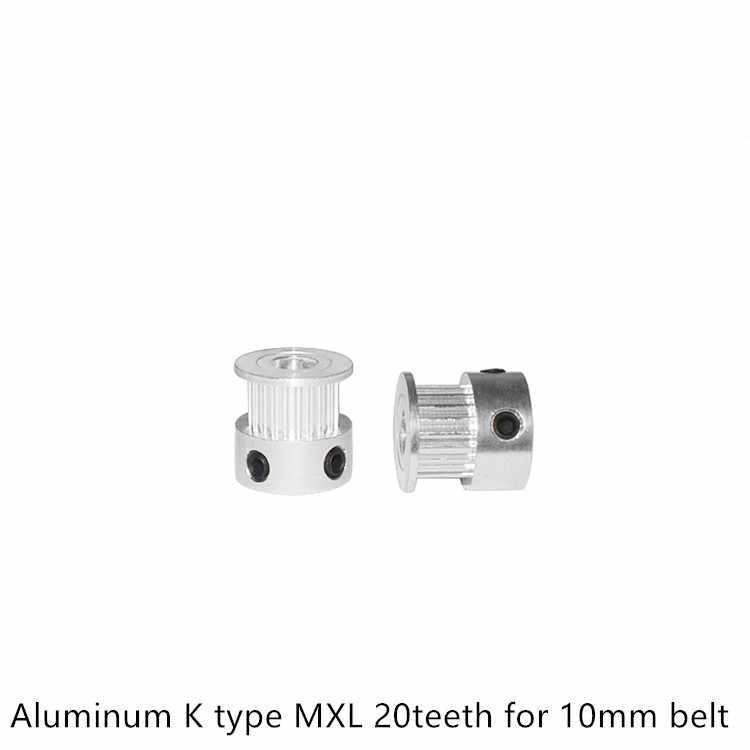 MXL Timingรอก 20 ฟันเจาะ 4Mm 5Mm 6.35Mm 8Mmสำหรับความกว้าง 6 มม.10 มม.Synchronousเข็มขัดขนาดเล็กBacklash 20 ฟัน