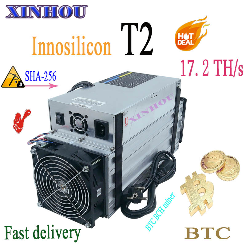 Used ASIC Miner Innosilicon T2 17.2T SHA256 BTC BCH Miner Economical Than Antminer S9 S17 S17e T17 T17e M20S M21S M3 T2T T3 E12