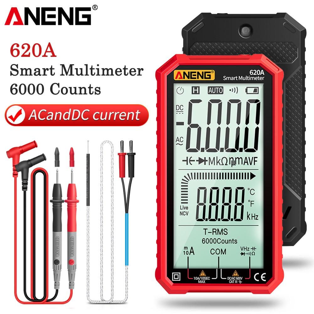 ANENG 620A мультиметр профисионал цифровой Смарт тестер 6000 отсчетов True RMS вольтметр мультиметры цифровой авто multimeter тик ток указатель напряжени...