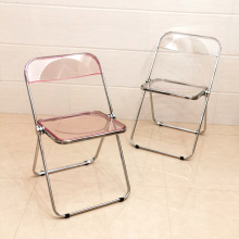 Simple Dining Chair Household Folding Transparent Back Stool