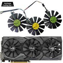 新しい 87 ミリメートル T129215SU グラフィックスカード冷却ファン asus ストリックス GTX 1060 1070 1080 1070Ti 1080Ti 980Ti/R9 390X R9 390 RX 480 580